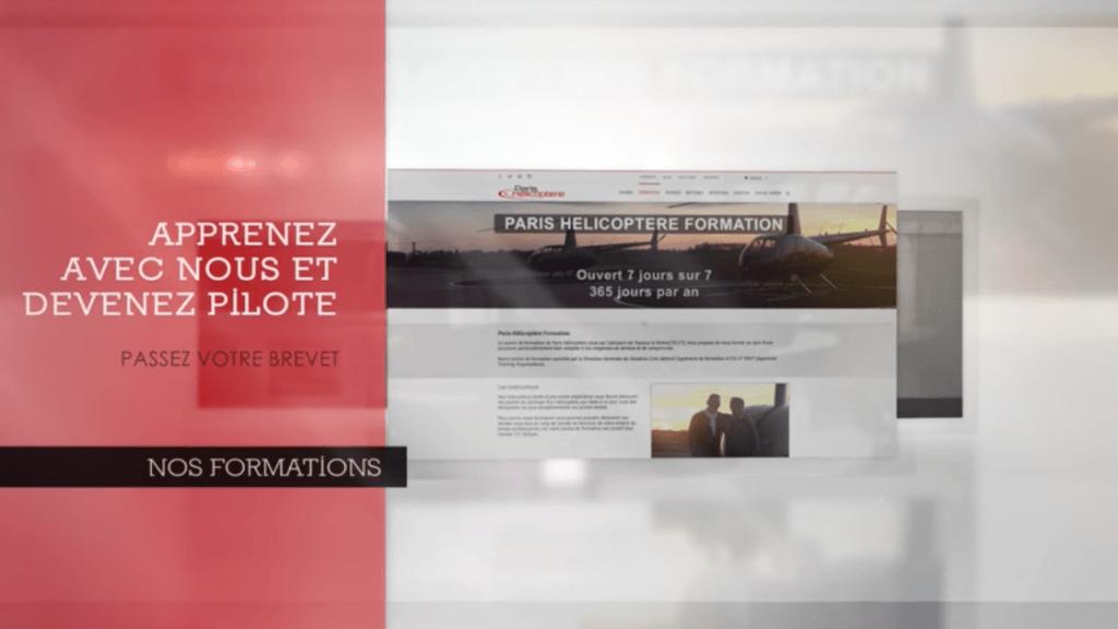 Nouvelles productions vidéo pour le site www.parishelicoptere.fr